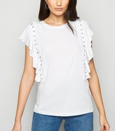 New Look Frill and Stud Trim Sleeveless Top