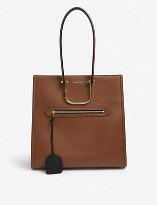 Alexander McQueen Tall Story leather tote bag
