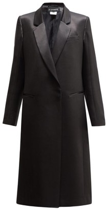 Ann Demeulemeester Satin Shine Overcoat - Womens - Black