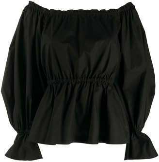 Pinko Off-Shoulder Oversized Sleeve Blouse