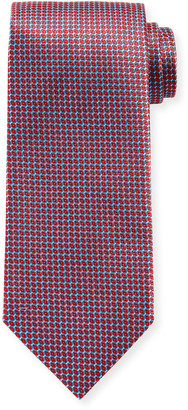 Brioni Men's Woven Diamonds Silk Tie