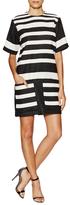 Derek Lam Striped Front Pocket Shift Dress