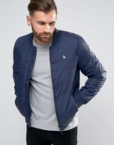 Jack Wills Wavell Bomber Jacket In Navy