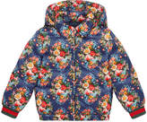 Gucci Children's floral print padded nylon jacket