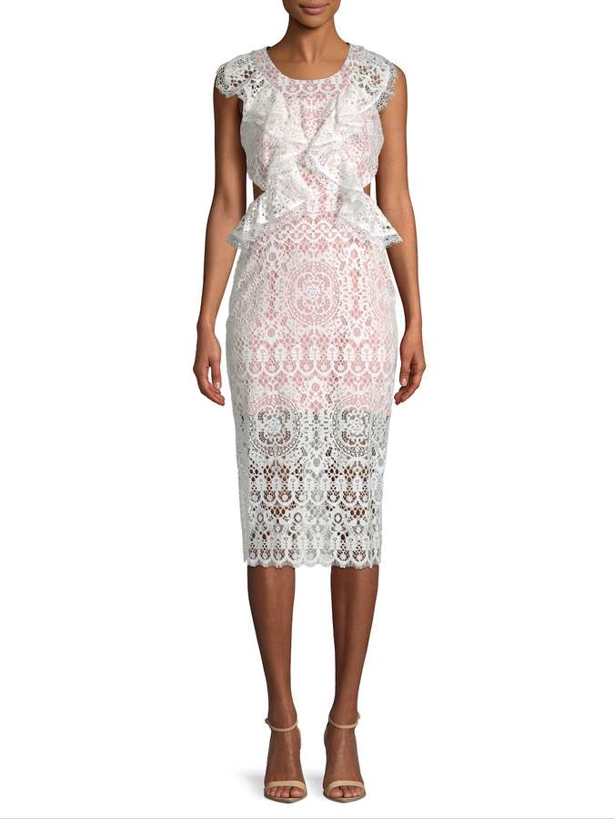 Alexis Women's Pepa Cut-Out Lace Midi Dress