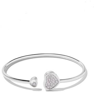 Chopard 18kt white gold Happy Hearts diamond bangle