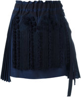No.21 tassel detail pleated skirt - women - Cotton/Polyester/Viscose - 40
