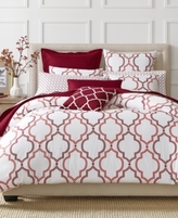 Charter Club CLOSEOUT! Damask Designs Garnet Ogee Garnet 2 Piece Twin Duvet Set