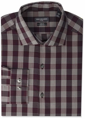 Van Heusen Men's Dress Shirt Slim Fit Flex Collar Stretch Check
