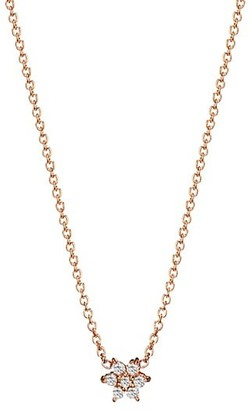 ginette_ny Star 18K Rose Gold & Diamond Mini Pendant Necklace