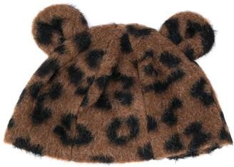 Caffe' D'orzo TEEN animal-print hat