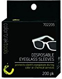 Color Trak Colortrak Disposable Eyeglass Sleeves, Black, 200 Count