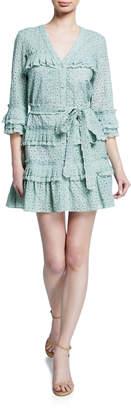 Alexis Audrea Eyelet Ruffle Short Dress