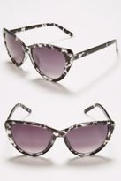 Yours Clothing Yoursclothing Womens Clear Inked Cat Eye Sunglasses Uv Protection Shades