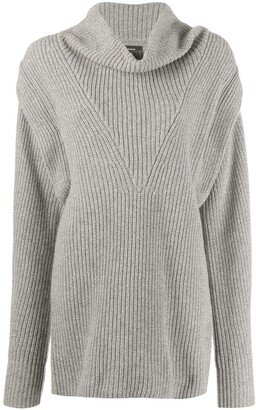 Isabel Marant Ribbed-Knit Jumper Dress