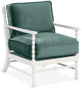 Mr & Mrs Howard Laguna Accent Chair - Jade Velvet frame, white; upholstery, jade
