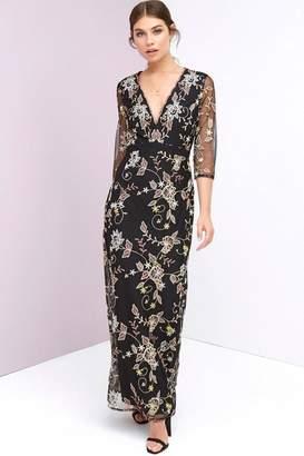 Little Mistress Embroidery Maxi Dress