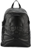 Philipp Plein skull and cross-bone backpack - men - Calf Leather - One Size