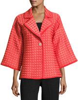 Misook Wide-Sleeve Boulcé Jacket, Orange