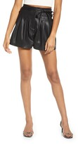 Blank NYC Blanknyc Faux Leather Paperbag Waist Shorts