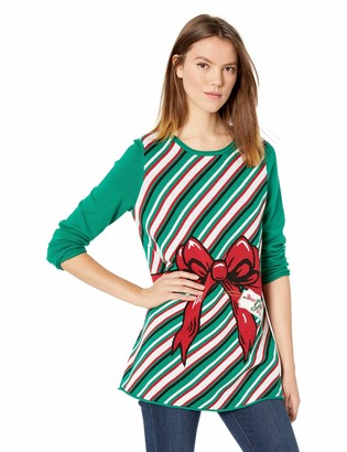 Ugly Christmas Sweater Company Women's Present Maternity Xmas Sweater