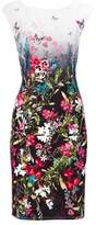 Wallis Petite Multi Colored Floral Print Shift Dress