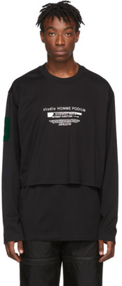 Givenchy Black Homme Podium Overlay Long Sleeve T-Shirt