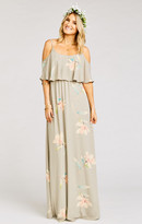 MUMU Caitlin Ruffle Maxi Dress ~ Lily Showers