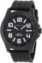 Momentum Men's 1M-SP06B1B Cobalt V Ion-Plated Titanium Rubber Band Watch