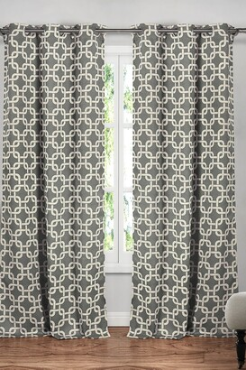 Duck River Textile Kristin Blackout Grommet Curtain - Set of 2 - Grey