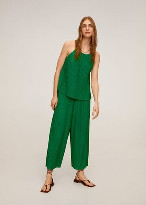 MANGO Pleated culotte trousers