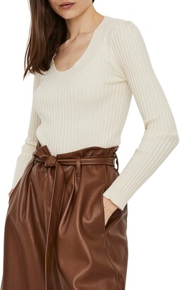 AWARE BY VERO MODA Maci Scoop Neck Ribbed Sweater