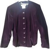 Saint Laurent Purple Cotton Jacket for Women Vintage