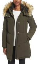 Vince Camuto Women's Down & Feather Fill Parka With Faux Fur Trims