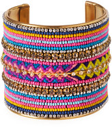 Fragments for Neiman Marcus Wide Seed Bead Cuff Bracelet, Multi