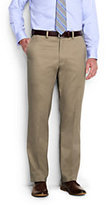 Lands' End Men's Long Comfort Waist No Iron Twill Dress Trousers-French Walnut Heather