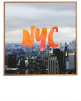 DENY Designs 'Nyc Skyline' Framed Wall Art