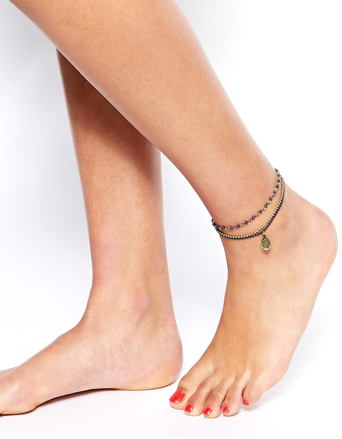 Asos Rosary Anklet - Gold