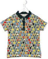 Fendi lightbulb print polo shirt - kids - Cotton/Spandex/Elastane - 8 yrs