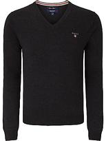 Gant Wool Cotton V-neck Jumper