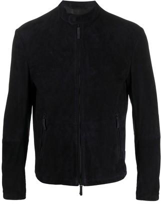 Emporio Armani Zipped Leather Jacket
