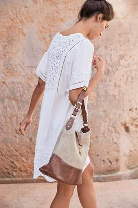Next Womens White Broderie Dress - White
