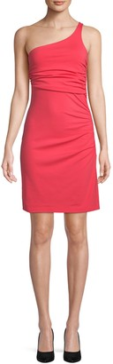 Susana Monaco Ruched One-Shoulder Dress