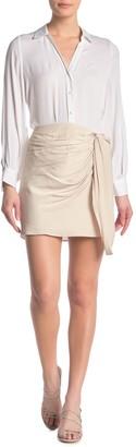 Naked Zebra Side Twist Mini Skirt