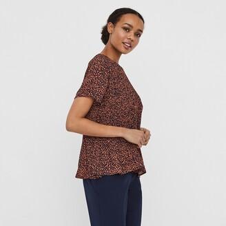 Vero Moda Short-Sleeved Pleated Blouse