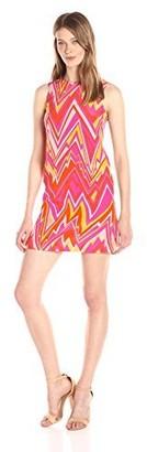 M Missoni Women's Retro Zig Zag Silk Dress