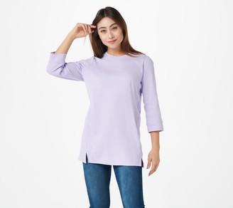 Denim & Co. Essentials Petite 3/4 Sleeve Tunic