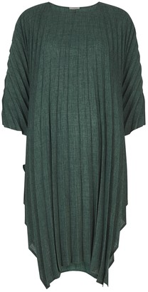 Crea Concept Dark Green Pleated Dress