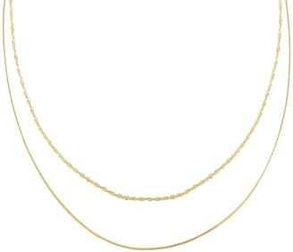 Adina's Jewels Mixed Double Chain Necklace