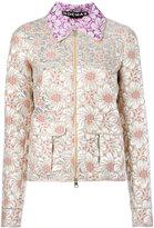 Rochas floral jacquard jacket - women - Silk/Cotton/Polyamide/Polyester - 42